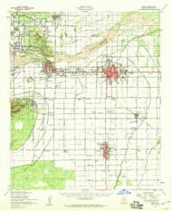 Mesa, Arizona 1952 (1960) USGS Old Topo Map Reprint 15x15 AZ Quad 314797