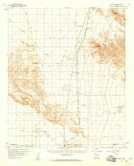 Midway, Arizona 1958 (1959) USGS Old Topo Map Reprint 15x15 AZ Quad 314801