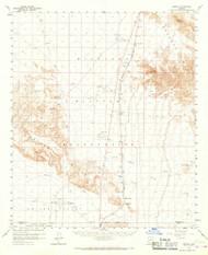 Midway, Arizona 1958 (1967) USGS Old Topo Map Reprint 15x15 AZ Quad 314800