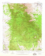 Mingus Mountain, Arizona 1944 (1965) USGS Old Topo Map Reprint 15x15 AZ Quad 314803