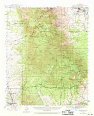 Mingus Mountain, Arizona 1944 (1970) USGS Old Topo Map Reprint 15x15 AZ Quad 314802