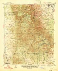 Mingus Mountain, Arizona 1947 (1947) USGS Old Topo Map Reprint 15x15 AZ Quad 314805