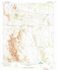 Mount Ajo, Arizona 1963 (1964) USGS Old Topo Map Reprint 15x15 AZ Quad 314835