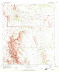 Mount Ajo, Arizona 1963 (1973) USGS Old Topo Map Reprint 15x15 AZ Quad 314834