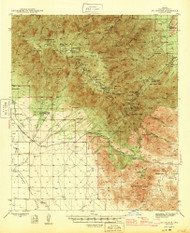 Mount Graham, Arizona 1945 (1945) USGS Old Topo Map Reprint 15x15 AZ Quad 314825
