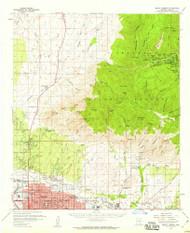 Mount Lemmon, Arizona 1957 (1959) USGS Old Topo Map Reprint 15x15 AZ Quad 314818