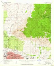 Mount Lemmon, Arizona 1957 (1962) USGS Old Topo Map Reprint 15x15 AZ Quad 314817