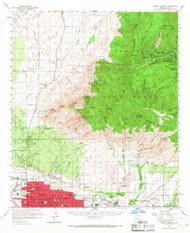 Mount Lemmon, Arizona 1957 (1967) USGS Old Topo Map Reprint 15x15 AZ Quad 314816
