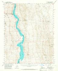 Mount Perkins, Arizona 1959 (1967) USGS Old Topo Map Reprint 15x15 AZ Quad 314827