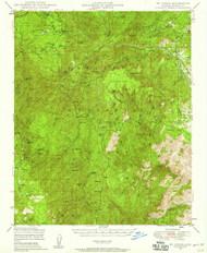 Mount Union, Arizona 1947 (1958) USGS Old Topo Map Reprint 15x15 AZ Quad 314831