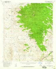 Mount Wrightson, Arizona 1958 (1959) USGS Old Topo Map Reprint 15x15 AZ Quad 314821