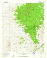 Mount Wrightson, Arizona 1958 (1962) USGS Old Topo Map Reprint 15x15 AZ Quad 314820