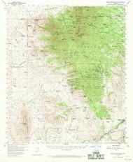 Mount Wrightson, Arizona 1958 (1970) USGS Old Topo Map Reprint 15x15 AZ Quad 314819