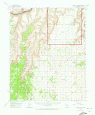 National Canyon, Arizona 1962 (1973) USGS Old Topo Map Reprint 15x15 AZ Quad 314840