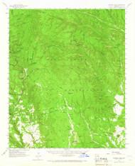 Ohediski Peak, Arizona 1961 (1966) USGS Old Topo Map Reprint 15x15 AZ Quad 314464