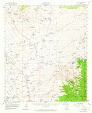 Oracle, Arizona 1959 (1964) USGS Old Topo Map Reprint 15x15 AZ Quad 314858