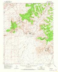 Oraibi, Arizona 1966 (1968) USGS Old Topo Map Reprint 15x15 AZ Quad 314860