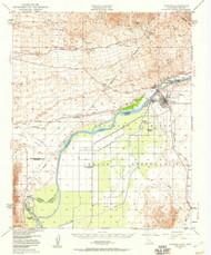Parker, Arizona 1949 (1960) USGS Old Topo Map Reprint 15x15 AZ Quad 298487
