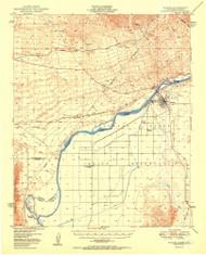 Parker, Arizona 1950 (1950) USGS Old Topo Map Reprint 15x15 AZ Quad 703934