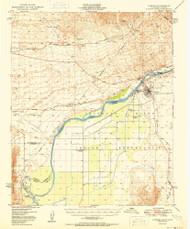 Parker, Arizona 1950 (1950) USGS Old Topo Map Reprint 15x15 AZ Quad 298489