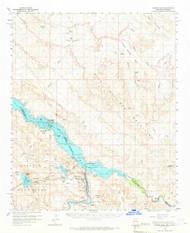 Parker Dam, Arizona 1959 (1966) USGS Old Topo Map Reprint 15x15 AZ Quad 314877