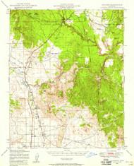 Paulden, Arizona 1947 (1958) USGS Old Topo Map Reprint 15x15 AZ Quad 314883