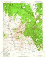 Paulden, Arizona 1947 (1964) USGS Old Topo Map Reprint 15x15 AZ Quad 314882