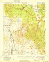 Paulden, Arizona 1950 (1950) USGS Old Topo Map Reprint 15x15 AZ Quad 314884