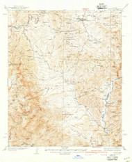 Payson, Arizona 1942 (1942) USGS Old Topo Map Reprint 15x15 AZ Quad 314888