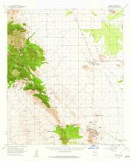 Pearce, Arizona 1958 (1962) USGS Old Topo Map Reprint 15x15 AZ Quad 314889
