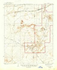 Petrified Forest, Arizona 1912 (1947) USGS Old Topo Map Reprint 15x15 AZ Quad 314893