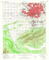Phoenix, Arizona 1952 (1968) USGS Old Topo Map Reprint 15x15 AZ Quad 314899