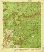 Pine, Arizona 1940 (1940) USGS Old Topo Map Reprint 15x15 AZ Quad 314910