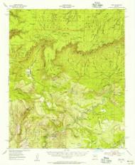 Pine, Arizona 1952 (1956) USGS Old Topo Map Reprint 15x15 AZ Quad 314913
