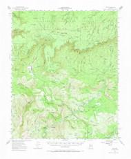 Pine, Arizona 1952 (1973) USGS Old Topo Map Reprint 15x15 AZ Quad 314911