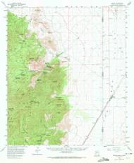 Portal, Arizona 1958 (1972) USGS Old Topo Map Reprint 15x15 AZ Quad 314918