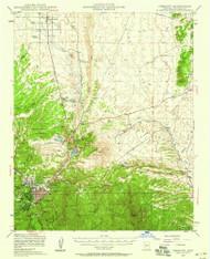 Prescott, Arizona 1947 (1959) USGS Old Topo Map Reprint 15x15 AZ Quad 314926