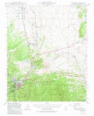 Prescott, Arizona 1947 (1980) USGS Old Topo Map Reprint 15x15 AZ Quad 314927
