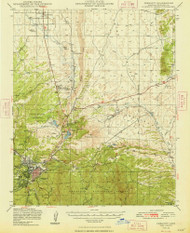 Prescott, Arizona 1948 (1948) USGS Old Topo Map Reprint 15x15 AZ Quad 314928