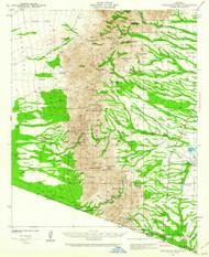 Presumido Peak, Arizona 1941 (1941) USGS Old Topo Map Reprint 15x15 AZ Quad 314930