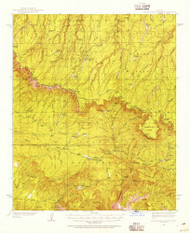 Promontory Butte, Arizona 1934 (1955) USGS Old Topo Map Reprint 15x15 AZ Quad 314932