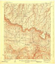 Promontory Butte, Arizona 1939 (1939) USGS Old Topo Map Reprint 15x15 AZ Quad 704123