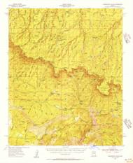 Promontory Butte, Arizona 1952 (1956) USGS Old Topo Map Reprint 15x15 AZ Quad 314936