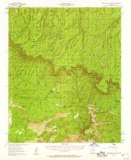 Promontory Butte, Arizona 1952 (1960) USGS Old Topo Map Reprint 15x15 AZ Quad 314935