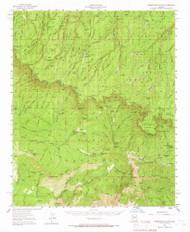 Promontory Butte, Arizona 1952 (1966) USGS Old Topo Map Reprint 15x15 AZ Quad 314934