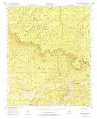 Promontory Butte, Arizona 1952 (1974) USGS Old Topo Map Reprint 15x15 AZ Quad 314937