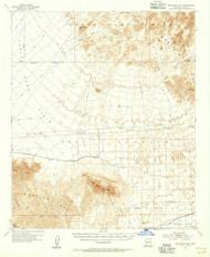 Red Bluff Mountain, Arizona 1955 (1956) USGS Old Topo Map Reprint 15x15 AZ Quad 314948