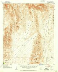 Red Hill, Arizona 1954 (1955) USGS Old Topo Map Reprint 15x15 AZ Quad 314953
