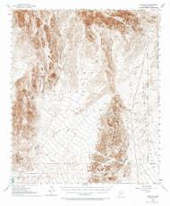 Red Hill, Arizona 1954 (1973) USGS Old Topo Map Reprint 15x15 AZ Quad 314954