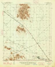 Red Rock, Arizona 1947 (1947) USGS Old Topo Map Reprint 15x15 AZ Quad 314956